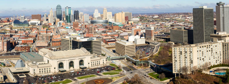 Downtown Kansas City, Missouri.